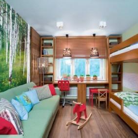 Фотообои в дизайне детской спальни