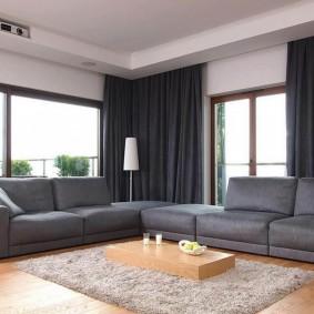 Два дивана серого цвета