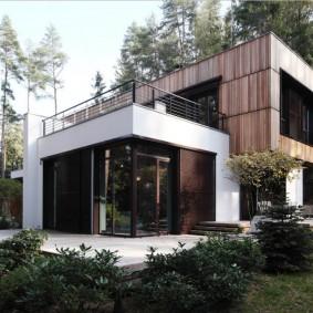Современный дом с двумя этажами