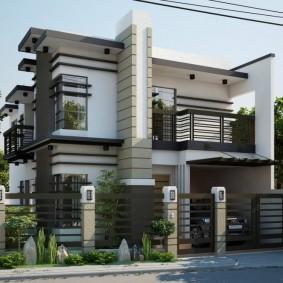 Компактный дом в современном стиле