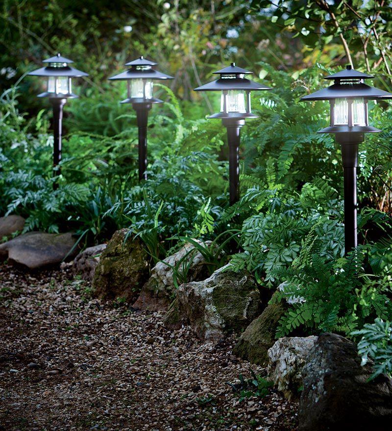 светильники для огорода фото двух сторонний
