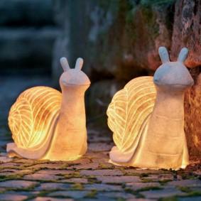 Декоративные светильники в форме улиток