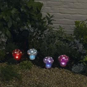 Светодиодные светильники в форме грибов
