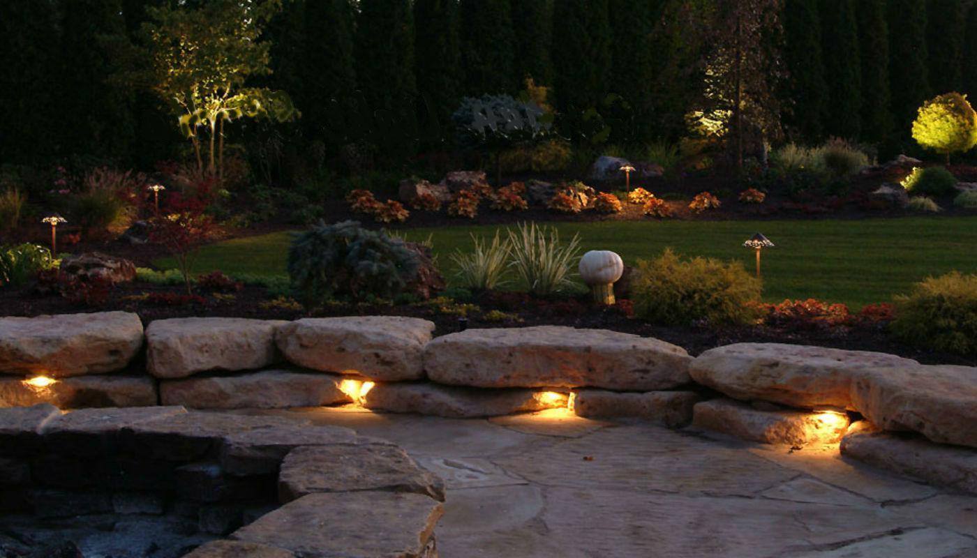 светильники на дачном участке фото закат, последние