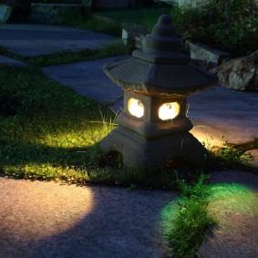 Декоративный светильник в виде сказочного домика