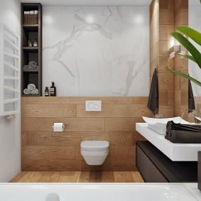 Интерьер санузла в современной квартире