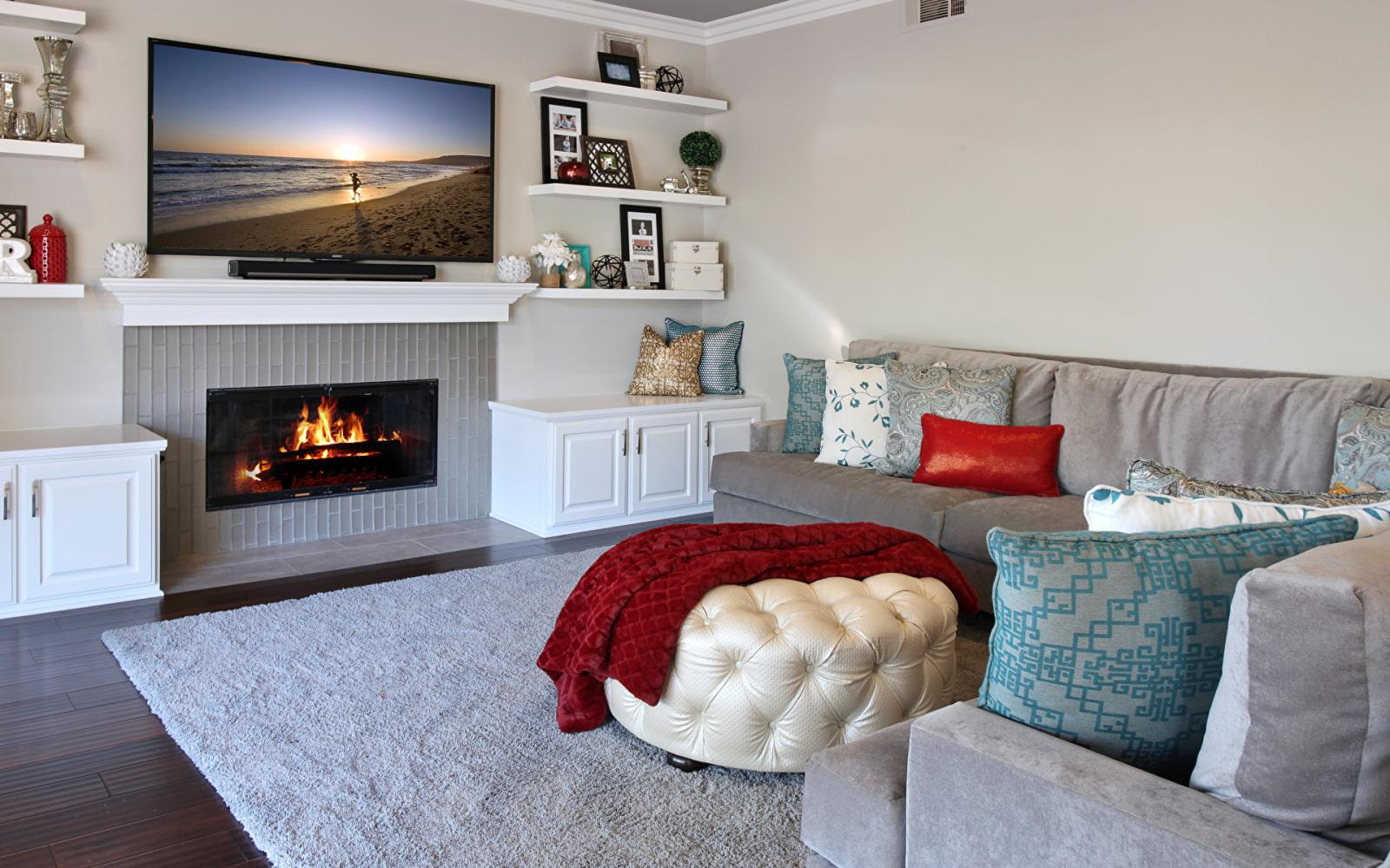Картинка диван с телевизором