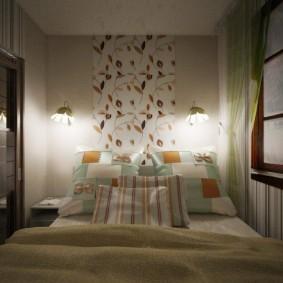 Нарисованное окно в маленькой спальне