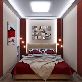 Прикроватные светильники в очень маленькой спальне