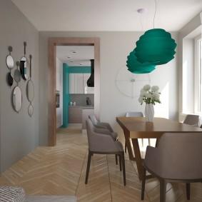 Кухня-столовая в просторной квартире