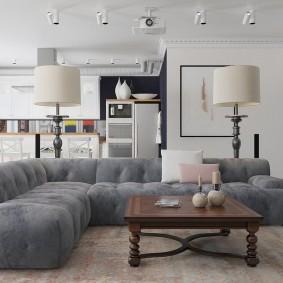 Интерьер квартире в стиле светлого лофта