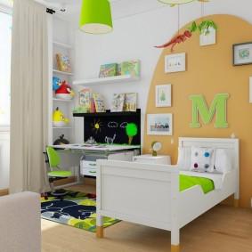 Стильная комната для мальчика школьного возраста