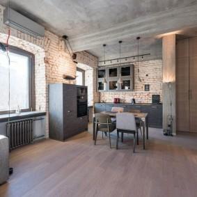Меблировка комнаты в индустриальном стиле