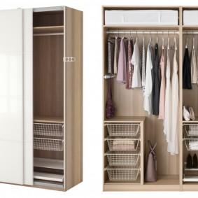 Пример внутреннего наполнения шкафа с двумя дверцами