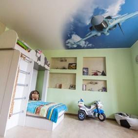 Фотопечать на потолке в детской комнате