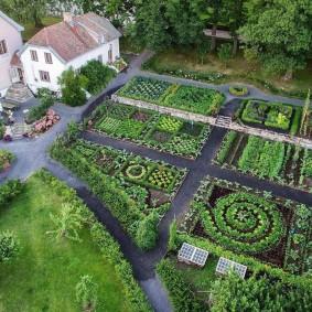 Планировка огорода на большом участке