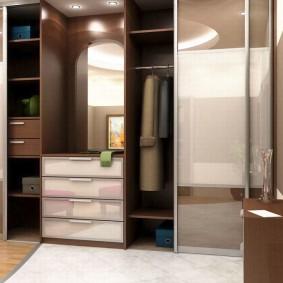 Дизайн прихожей комнаты со шкафом купе