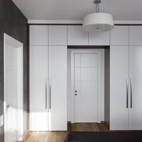 П-образный шкаф вокруг входной двери