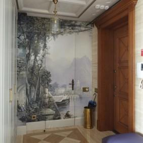 Фотообои в интерьере коридора квартиры