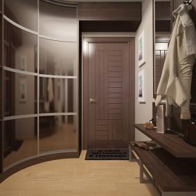 Радиусный шкаф с раздвижными дверями