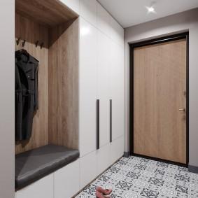 Минимализм в интерьере коридора небольшого размера