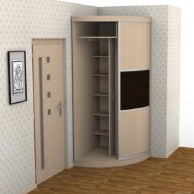 Угловой шкаф радиусного типа