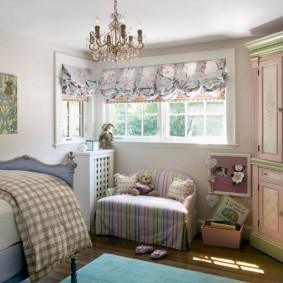 Небольшая спальня в деревенском стиле
