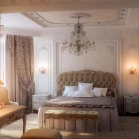 Классическая мебель в спальне супругов
