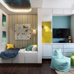 Детская комната в трехкомнатной сталинке
