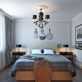 Квадратная спальня в неоклассическом стиле