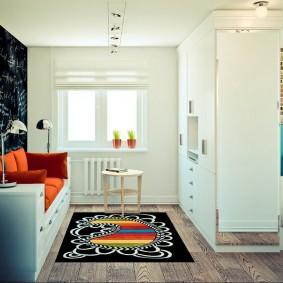Функциональная перегородка в однокомнатной квартире