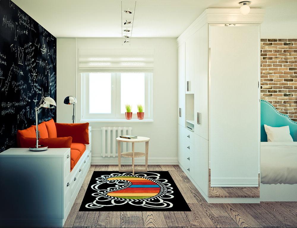 Однокомнатная квартира угловая дизайн фото