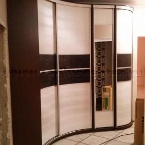 Каркасный шкаф радиусной конструкции
