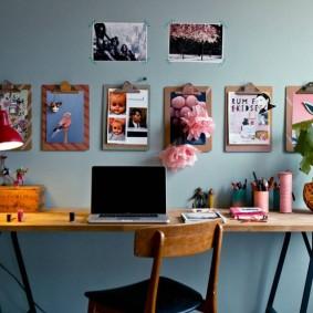 Письменный стол в стиле лофта