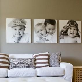 Фото триптих из детских снимков