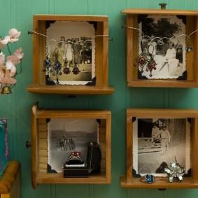 Рамки для фотографий из деревянных ящичков