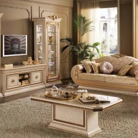 Меблировка комнаты в классическом стиле