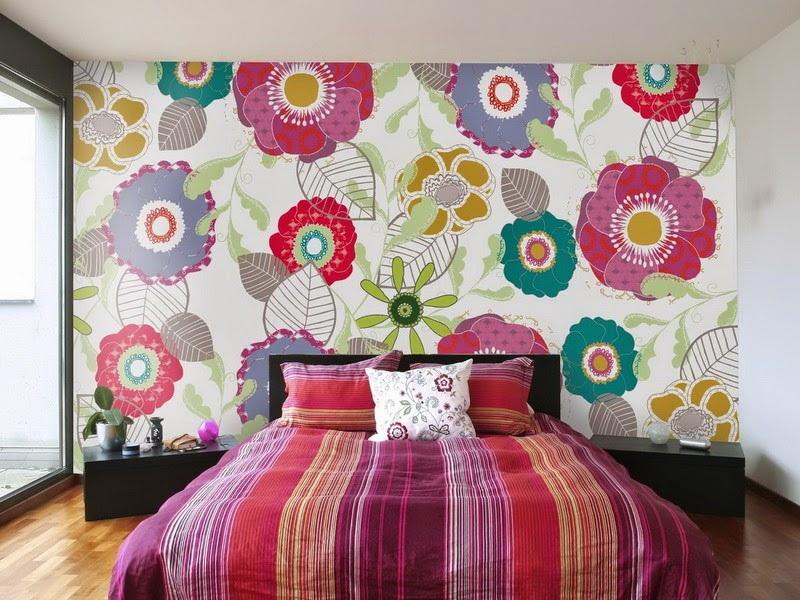 Обои для спальни с крупными цветами фото