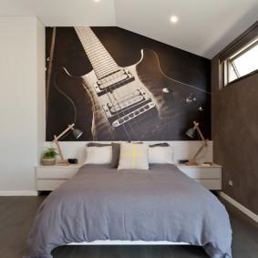 фотообои для спальни идеи интерьер
