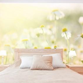 фотообои для спальни идеи дизайн