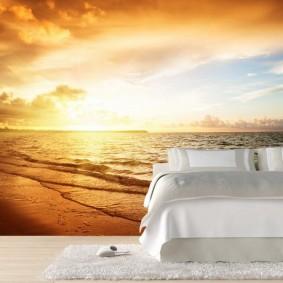 фотообои для спальни дизайн