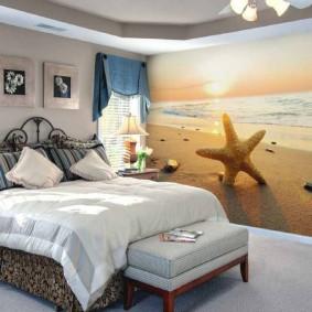 фотообои в спальню морской пляж