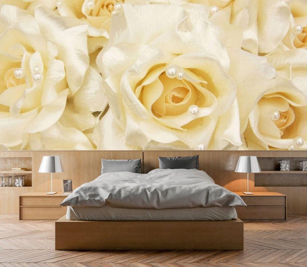 фотообои в спальню розы фото