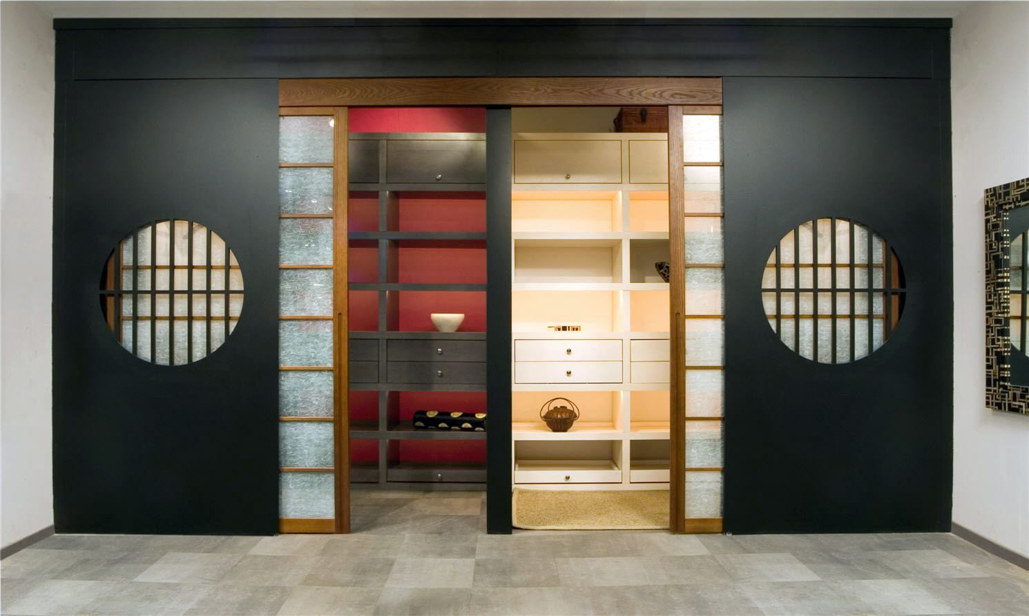 гардеробная 4 кв м в японском стиле