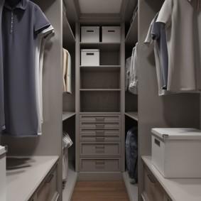 гардеробная комната 2 на 2 декор идеи