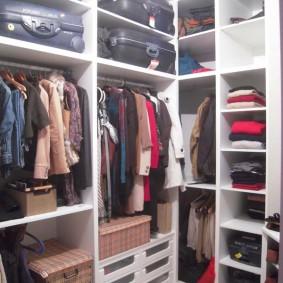 гардеробная комната 2 на 2 варианты