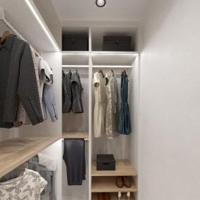 гардеробная комната 2 на 2 идеи декор
