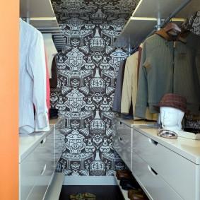 гардеробная комната 2 на 2 виды дизайна