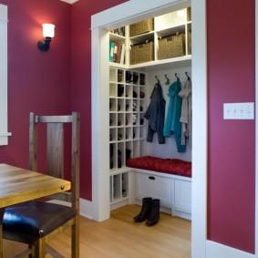 гардеробная комната 2 на 2 виды декора