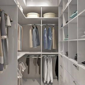 гардеробная комната 2 на 2 интерьер идеи
